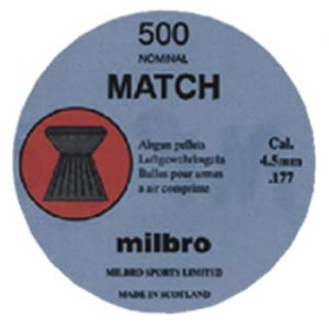 Milbro match .177 air gun pellets 500