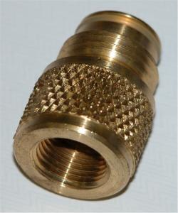 Brass adapter fits paintball guns
